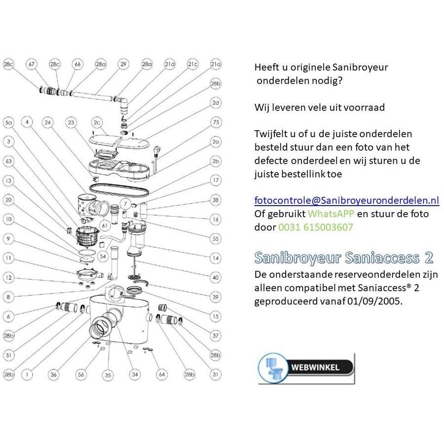 onderdelen tekeningen Sanibroyeur Access 2-1