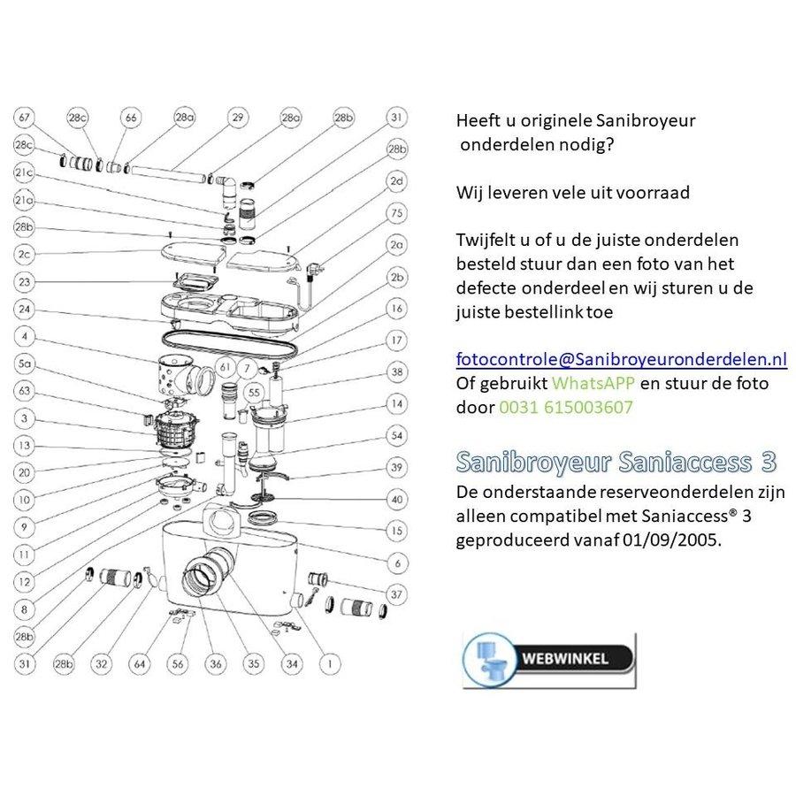 onderdelen tekeningen Sanibroyeur Access 3-1