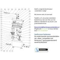 onderdelen tekeningen Sanibroyeur Access