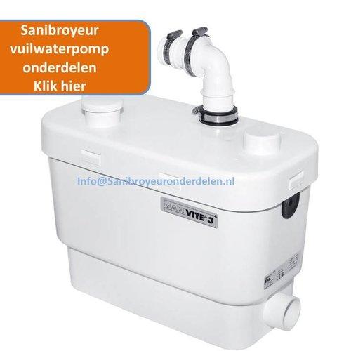 Sanibroyeur Vuilwaterpomp onderdelen