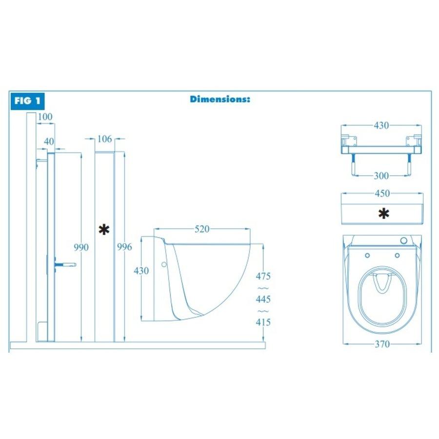Sanibroyeur Sanicompact Comfort Box (antraciet ) --3