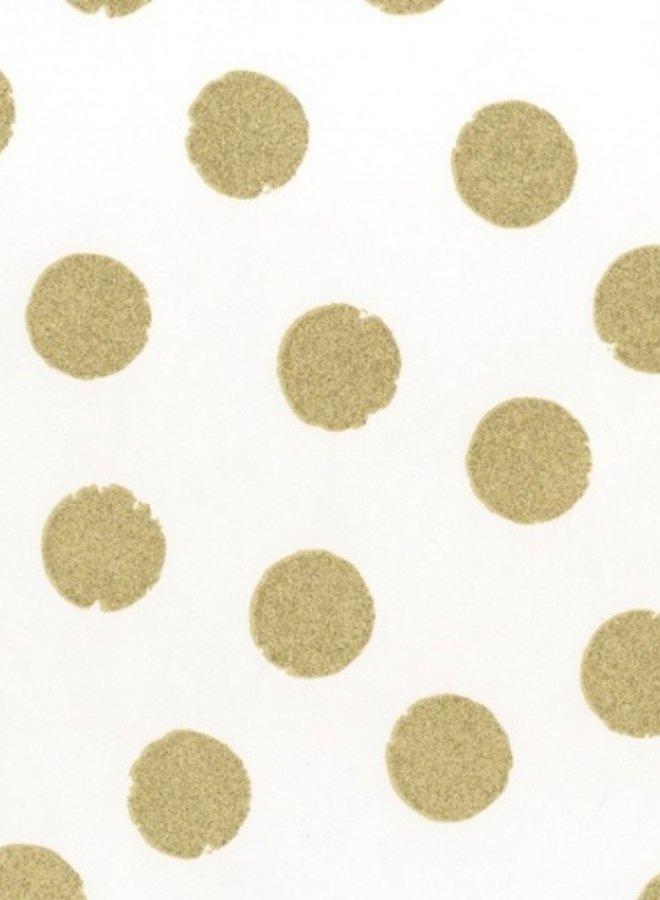 Behang Rice dots goud