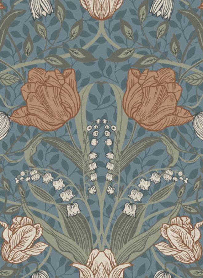 Midbec behang Apelviken Filippa blauw