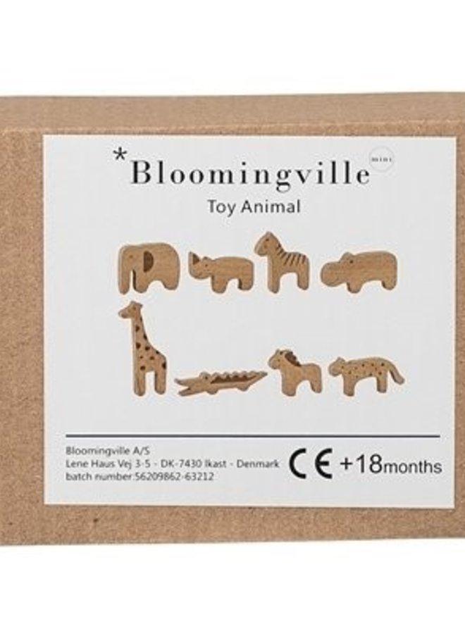 Bloomingville speelgoeddiertjes berkenhout