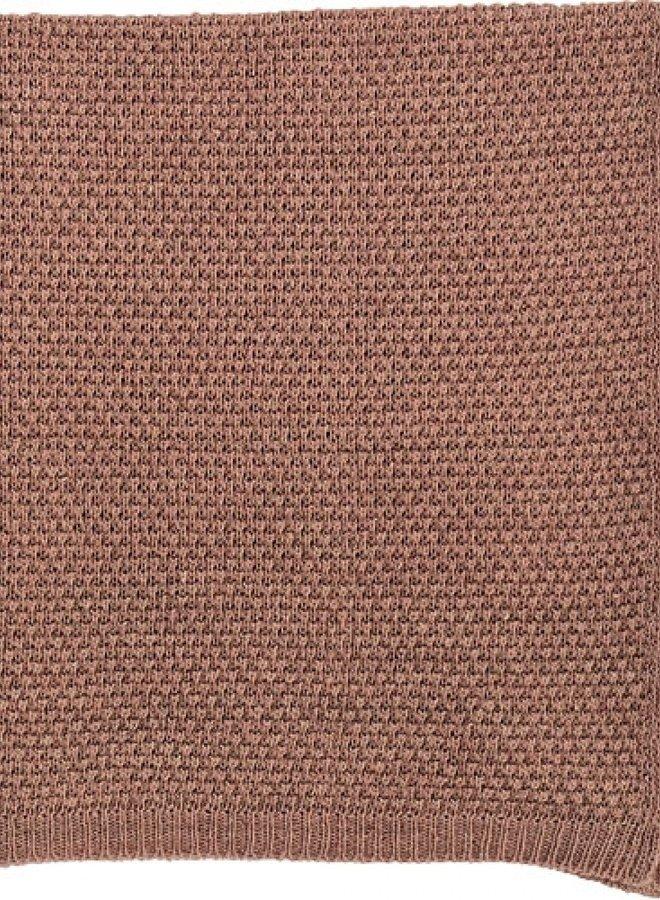 Bloomingville gebreid plaid roze