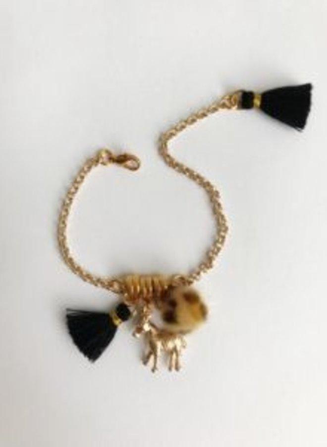 ByMelo armband goud zebra