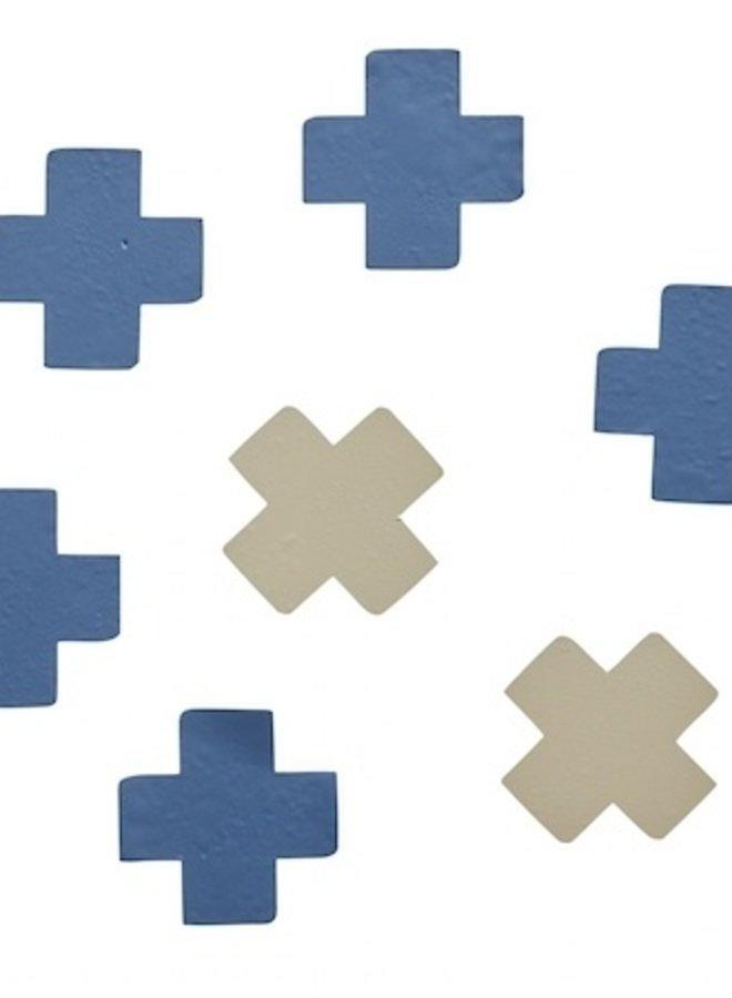 Bibelotte muursticker cross blauw