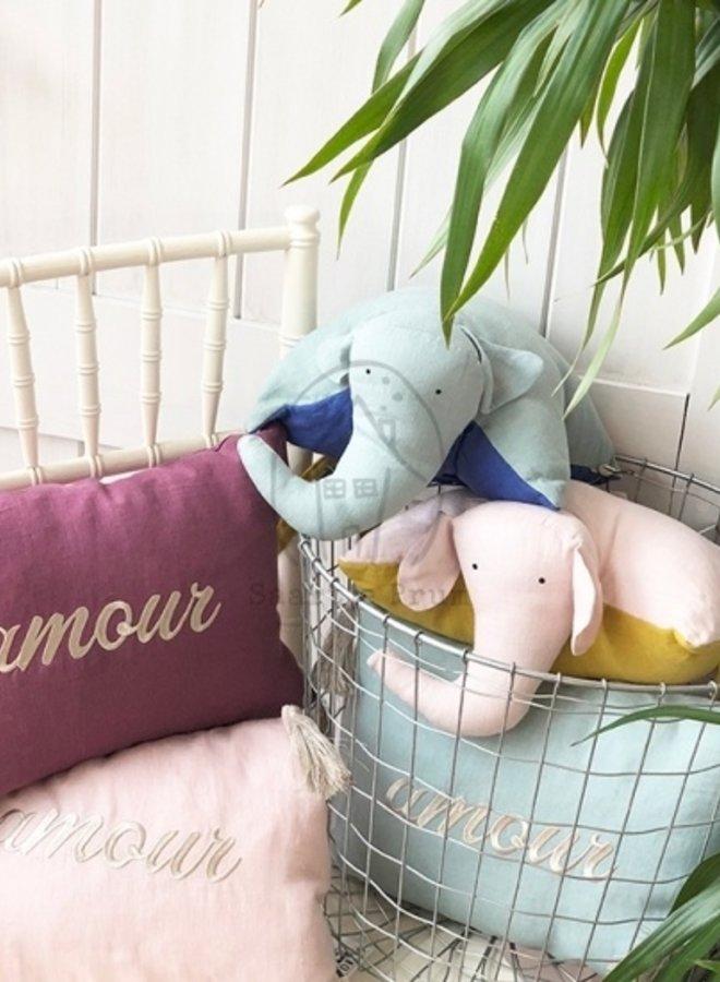 Gabrielle Paris DoudDou cushion nuage/tabac