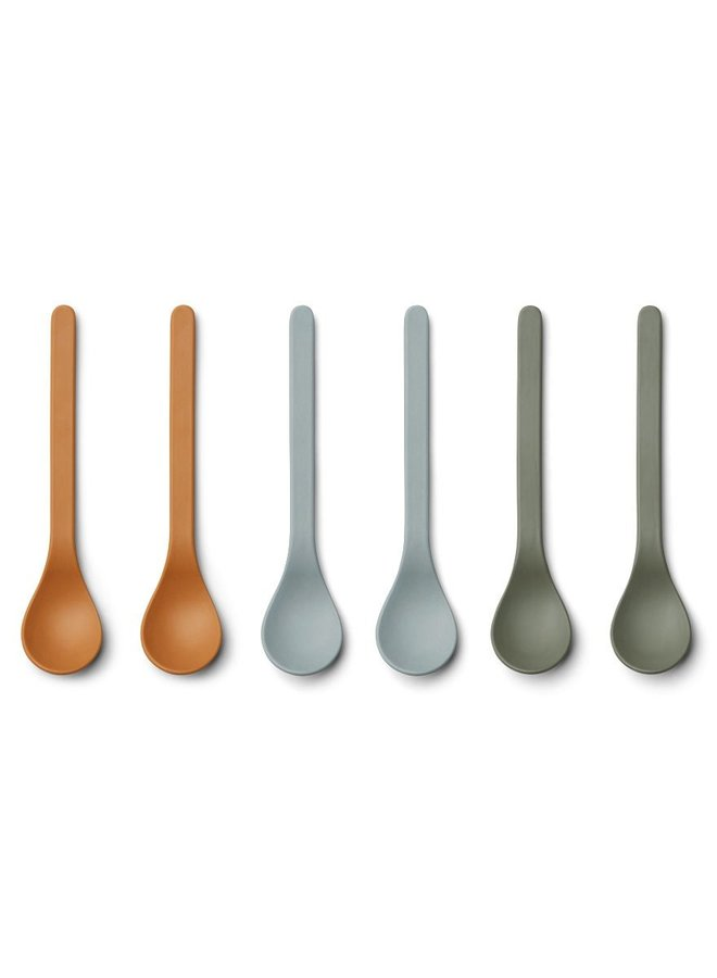 Liewood Etsu bamboo spoon- 6 pack Blue multi