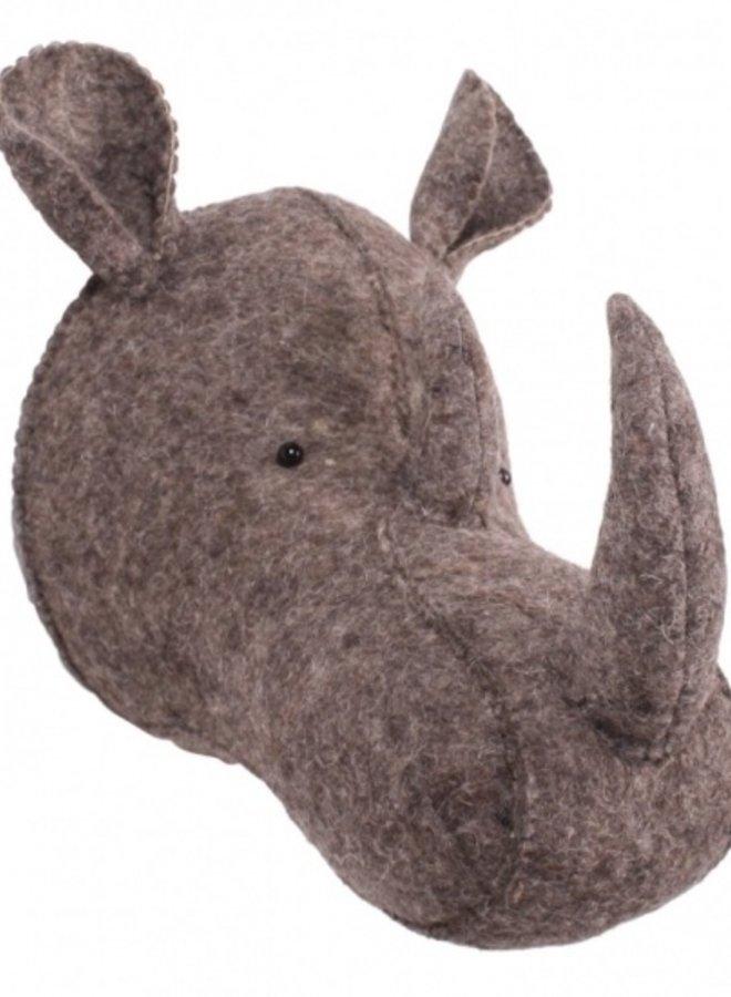 Kidsdepot Dierenkop Neushoorn