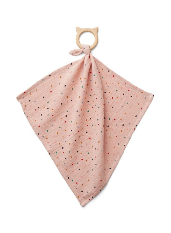 Liewood Dines teether cuddle cloth confetti mix