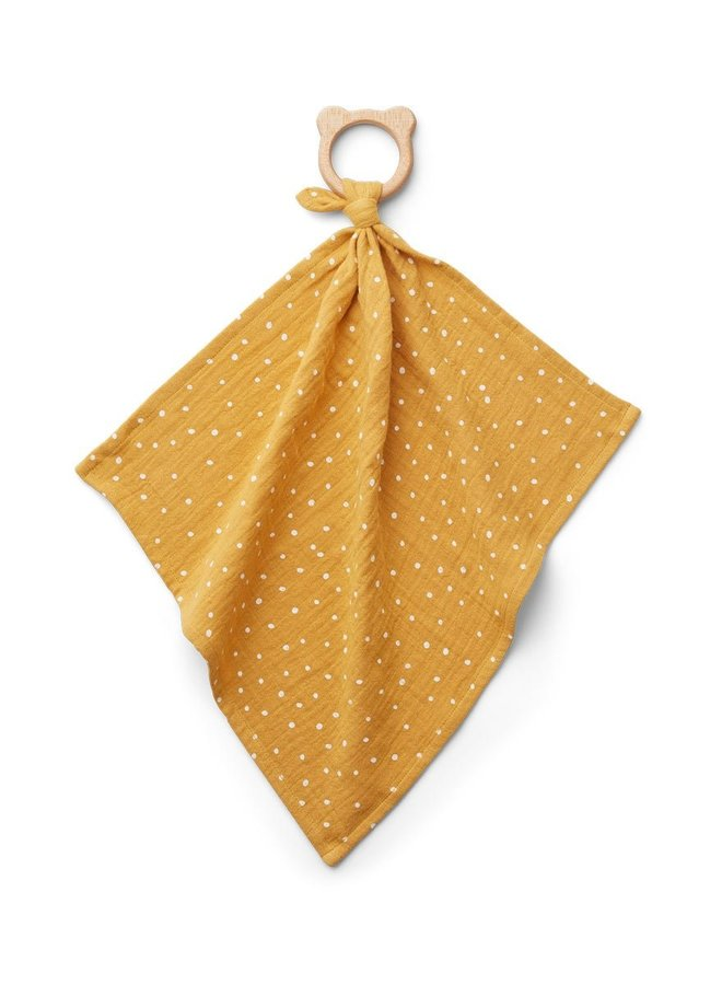 Liewood Dines teether cuddle cloth yellow mellow