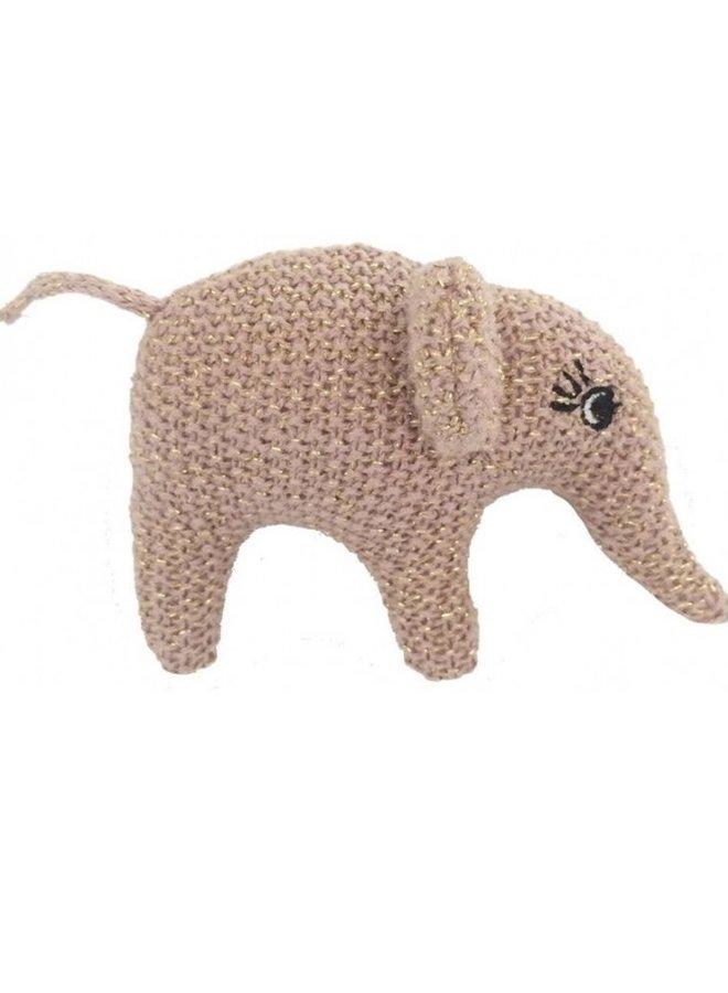 Smallstuff rammelaar olifant rose/goud