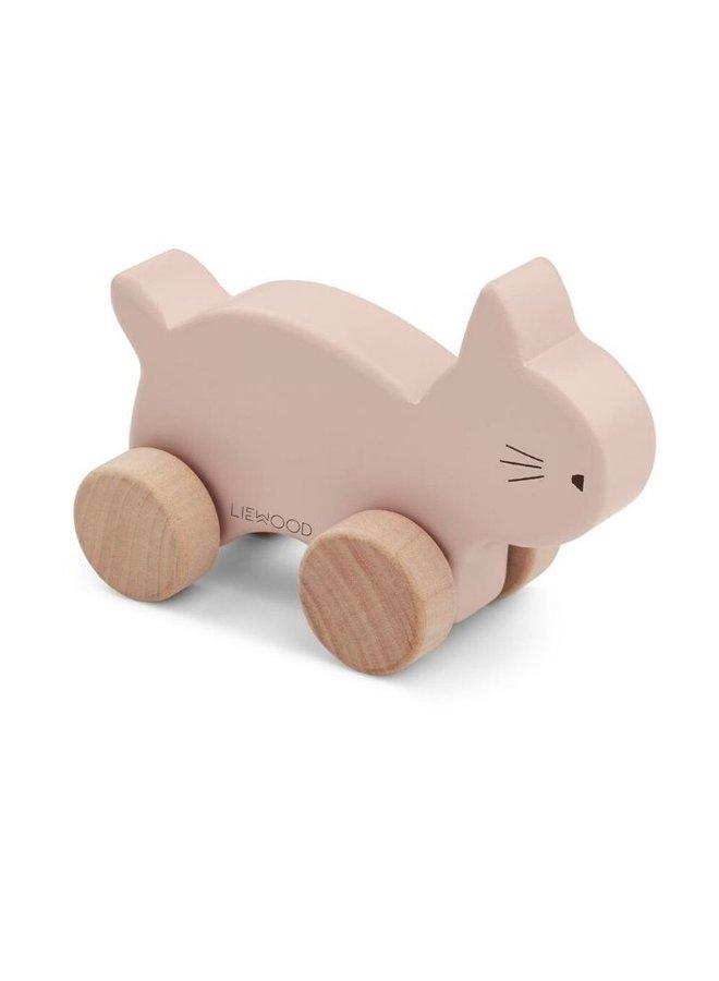 Liewood Elena wood toy cat rose