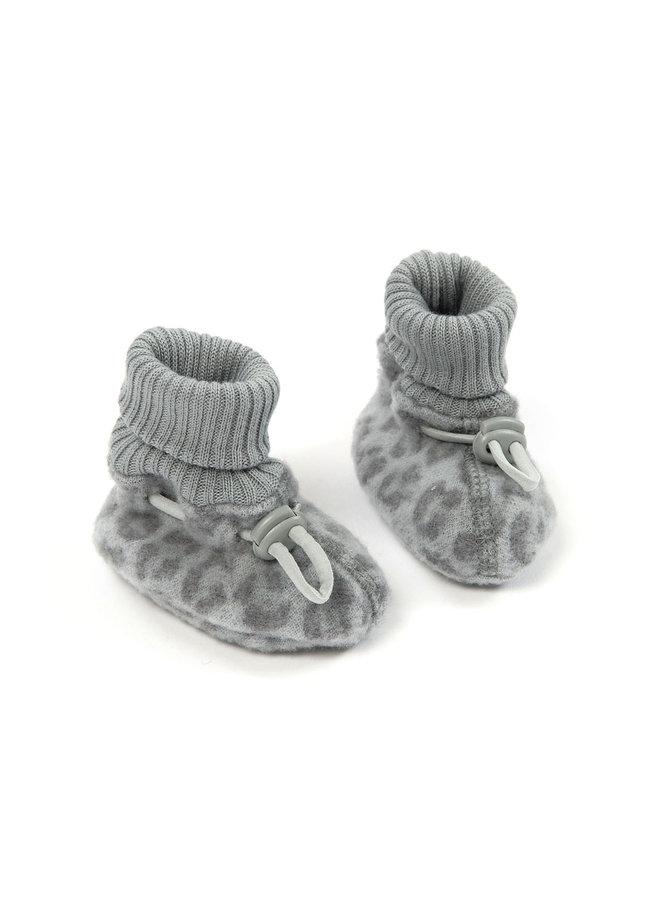 Smallstuff Booties marino wool leopard