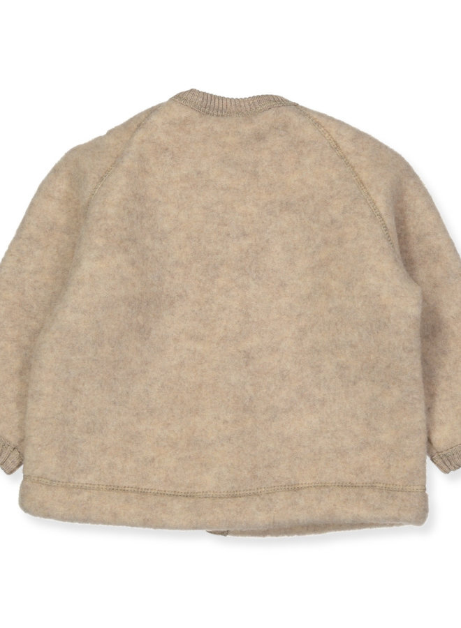 Smallstuff Cardigan merino wool nature
