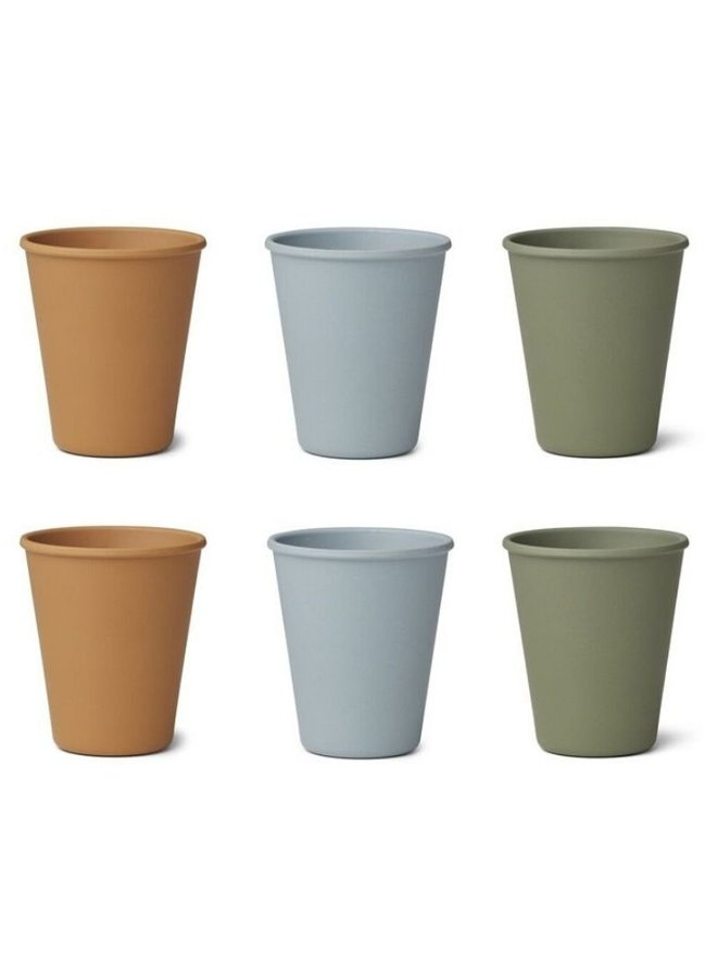 Liewood Gertrud bamboo cup 6 pack Blue multi