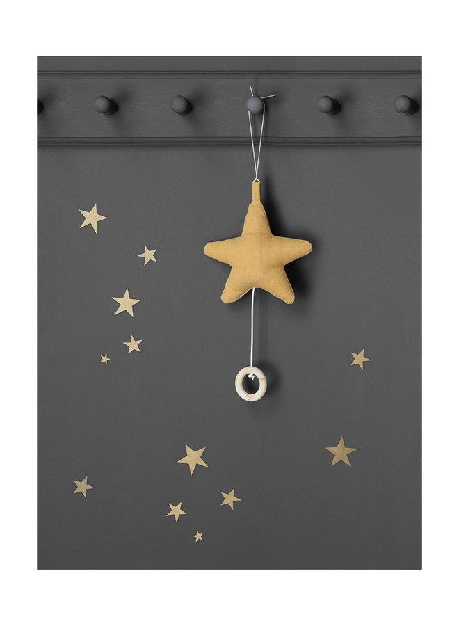 Ferm Living mini stars wallsticker copper