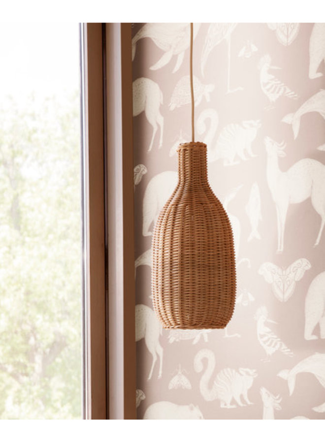 Ferm Living braided lampshade bottle