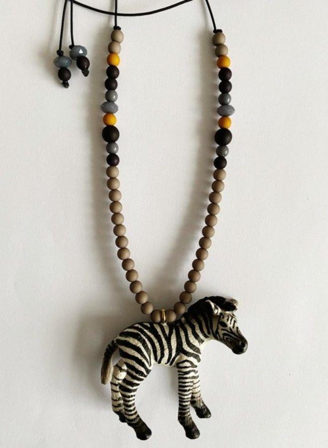 ByMelo dierenketting Zef de Zebra