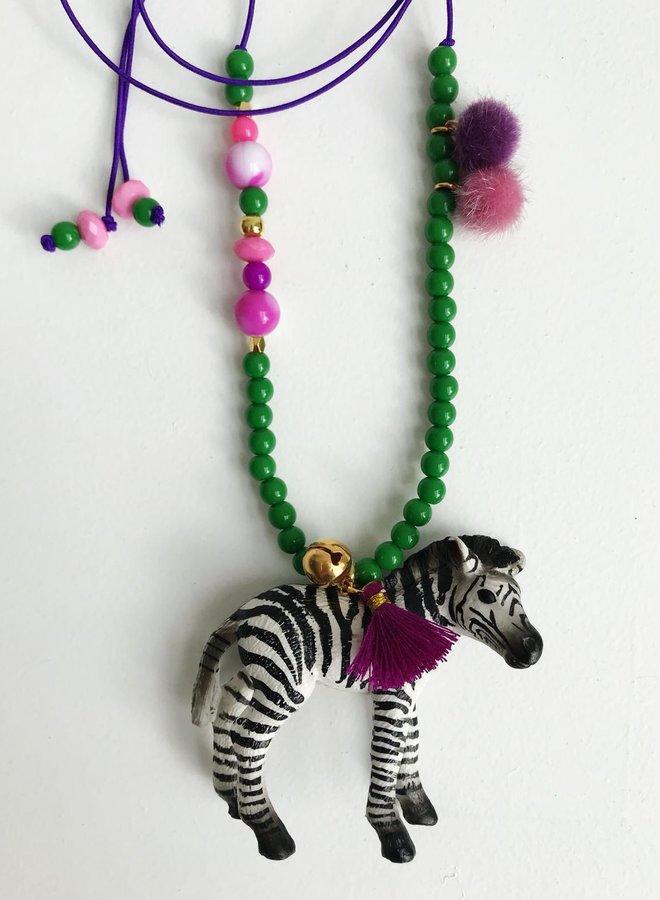 ByMelo dierenketting Zizi Zebra
