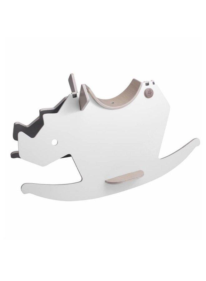 Sebra rocking horse white/warm grey