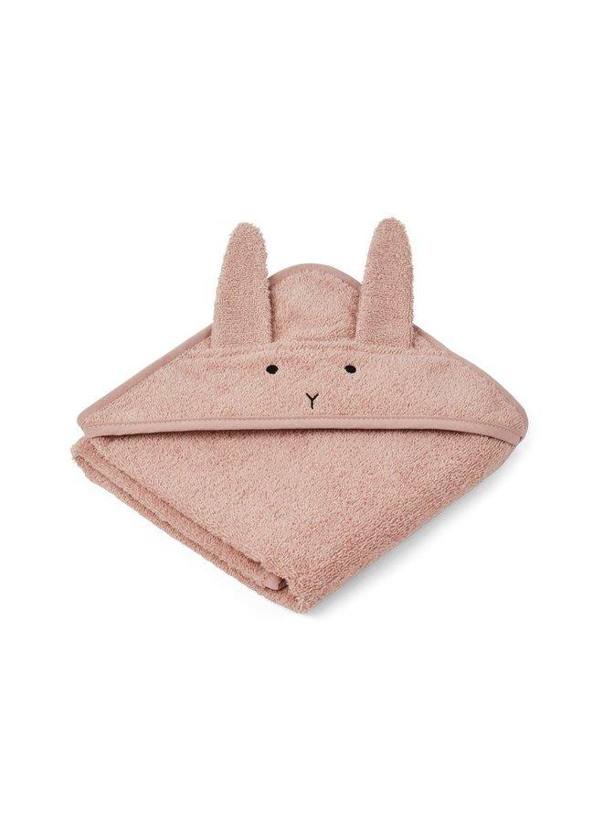 Liewood Albert hooded towel - rabbit rose