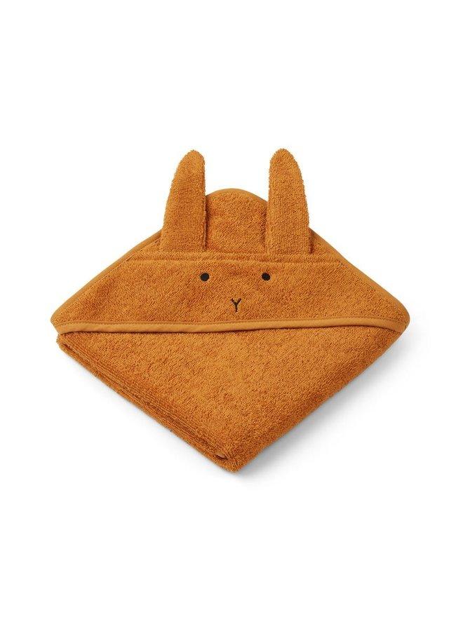 Liewood Albert hooded towel - rabbit mustard