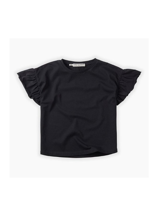 Sproet & Sprout T-shirt Grey Ruffle