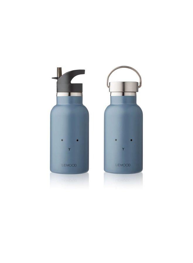Liewood Anker water bottle rabbit blue wave