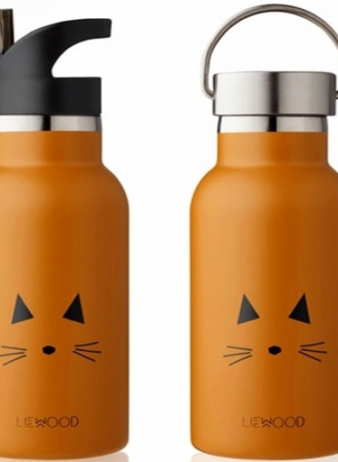 Liewood Anker water bottle cat mustard