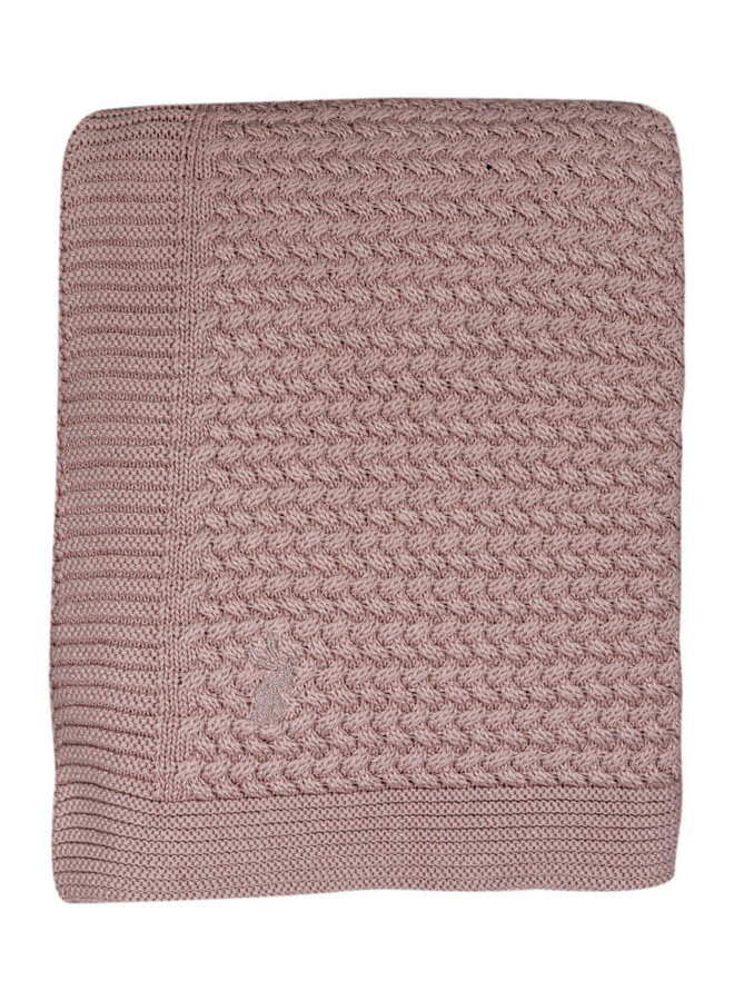 Mies & Co soft knitted blanket Pale Pink (wieg)