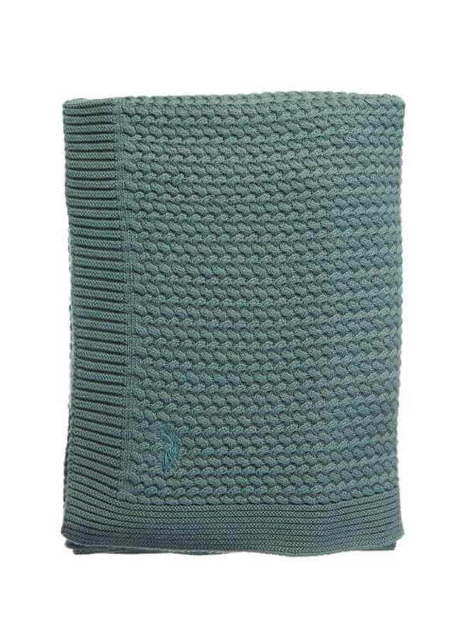 Mies & Co soft knitted blanket Deep Forest (wieg)