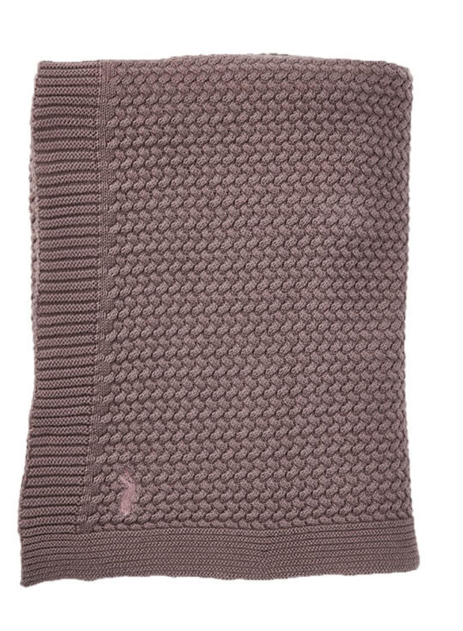 Mies & Co soft knitted blanket Rosewood (wieg)