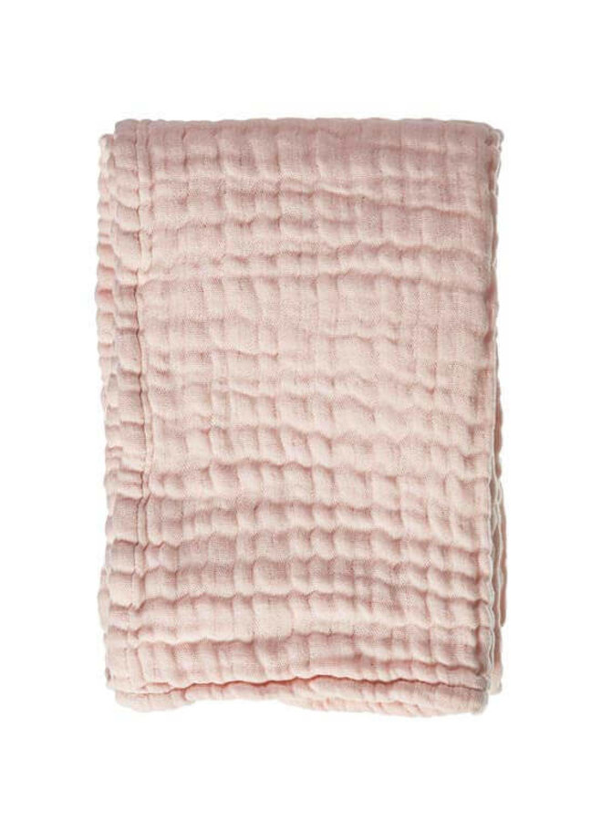 Mies & Co mousseline blanket Soft Pink (ledikant)