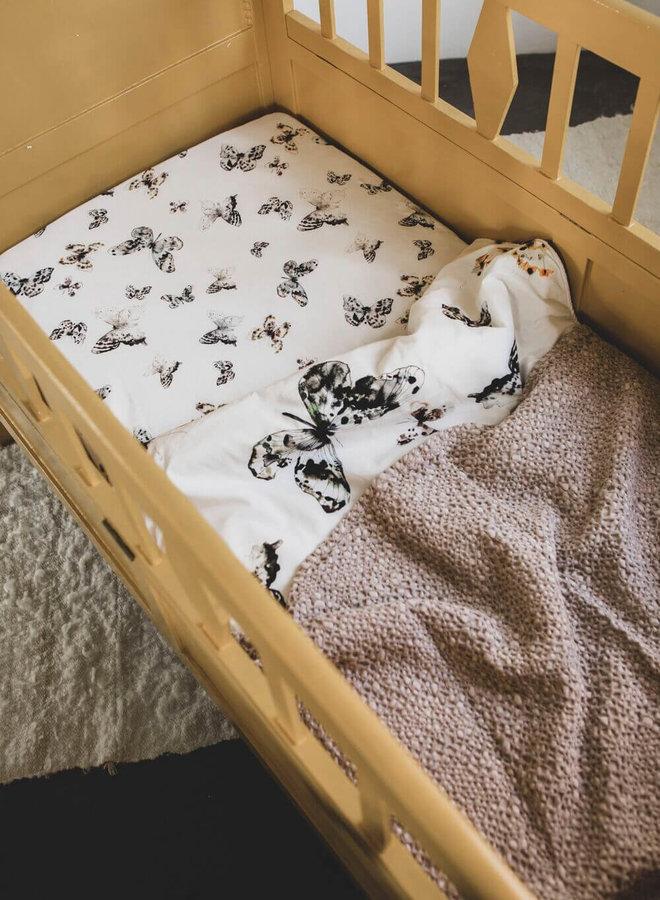 Mies & Co ledikantdeken honeycomb blossom powder