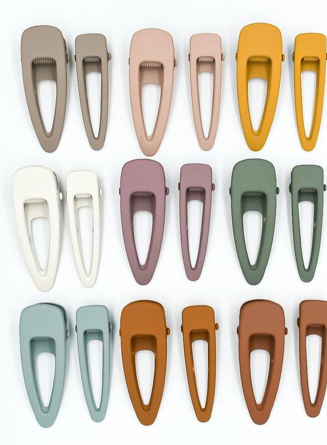 Grech & Co. matte clips set/2 shell