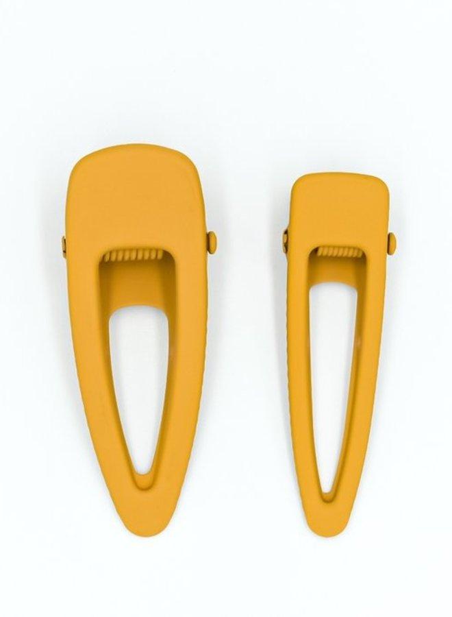 Grech & Co. matte clips set/2 golden