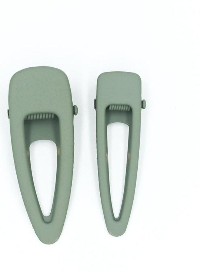 Grech & Co. matte clips set/2 fern