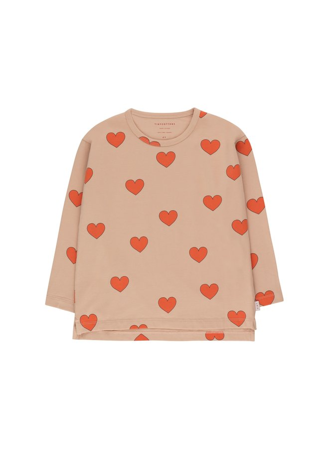 Tinycottons Hearts tee nude/red