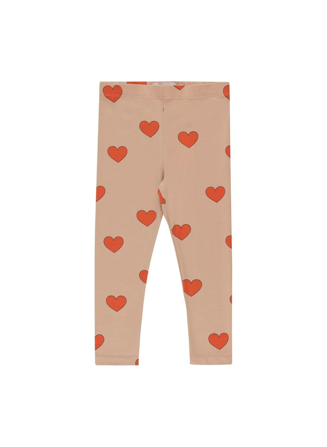 Tinycottons Hearts pants nude/red
