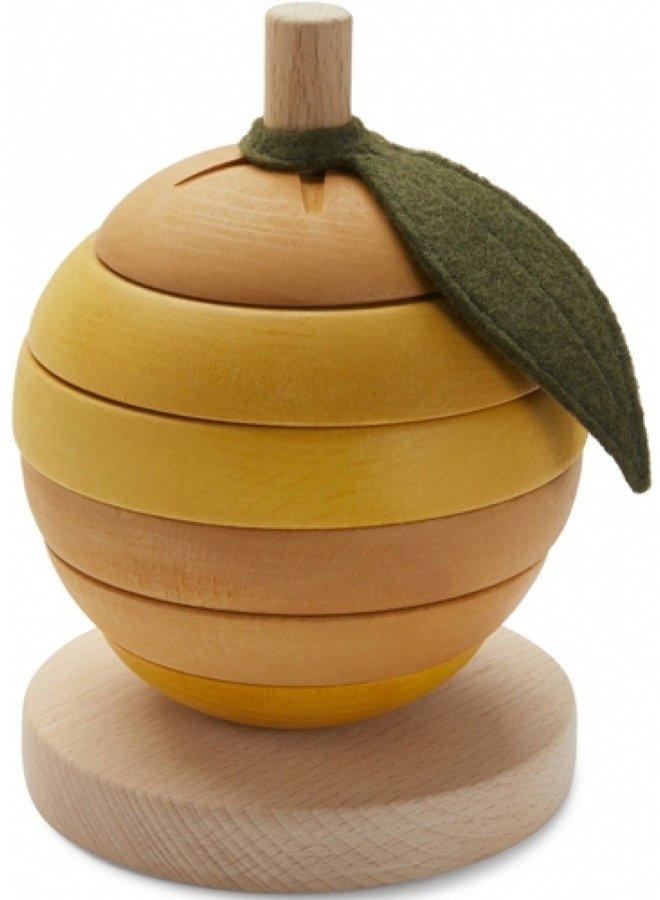 Konges Slojd stacking fruit orange