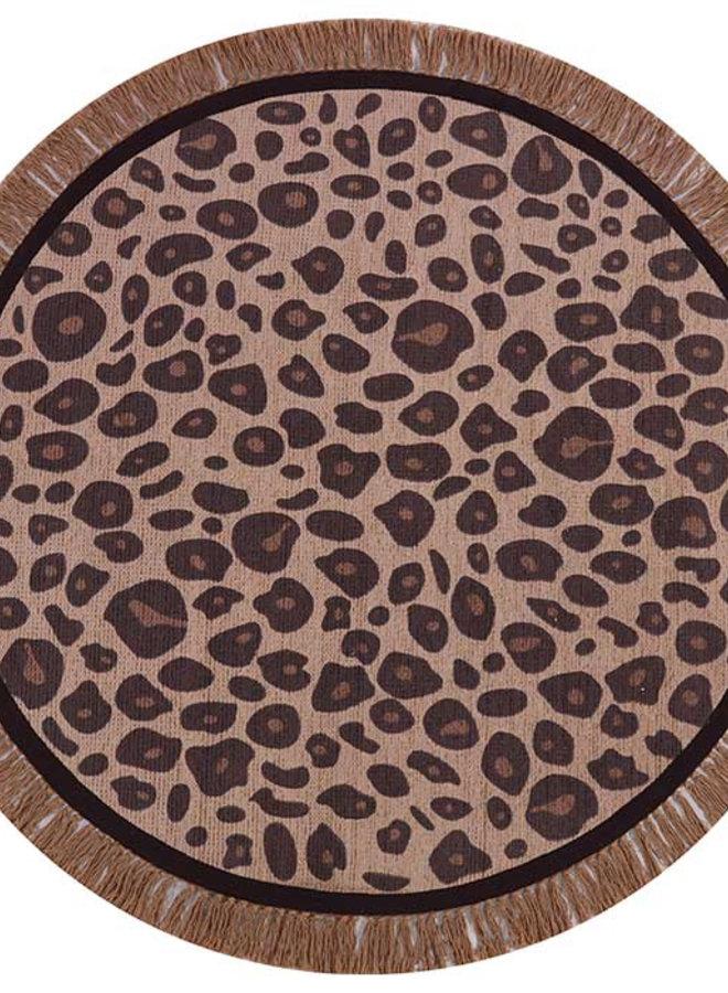 Tapis Petit Vloerkleed Leopard round