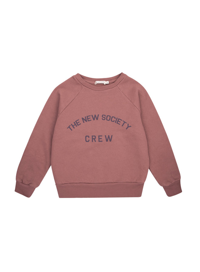 New Society Crew sweater Rose taupe