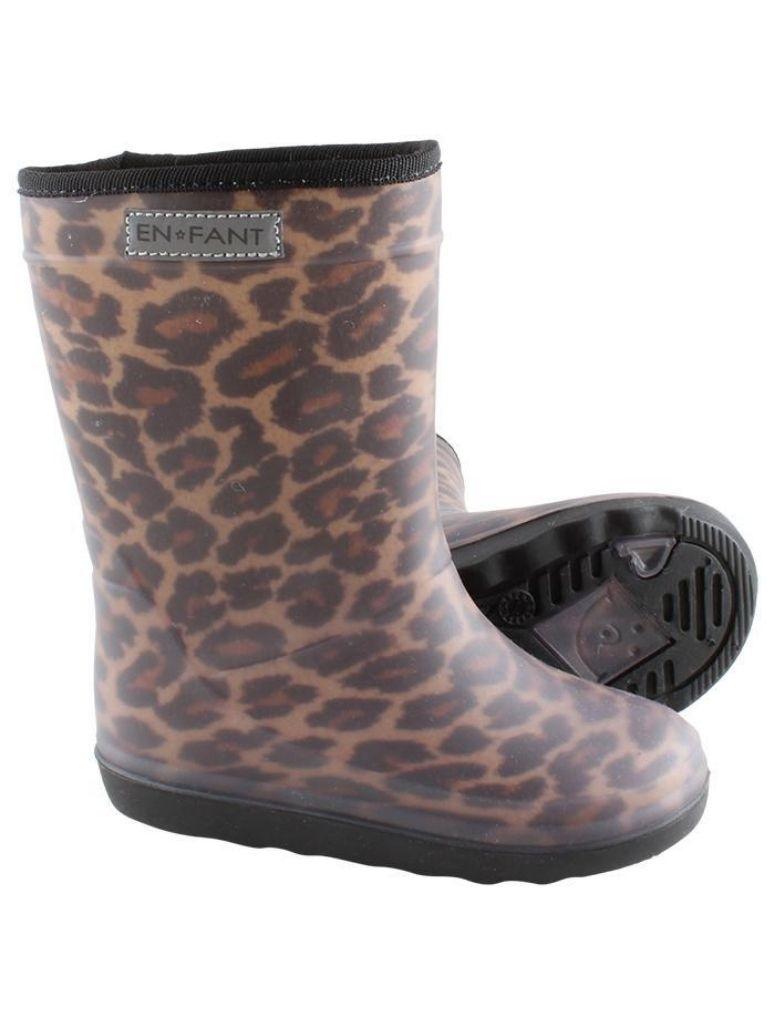 Saartje Prum   Enfant thermo boots leopard brown Saartje Prum