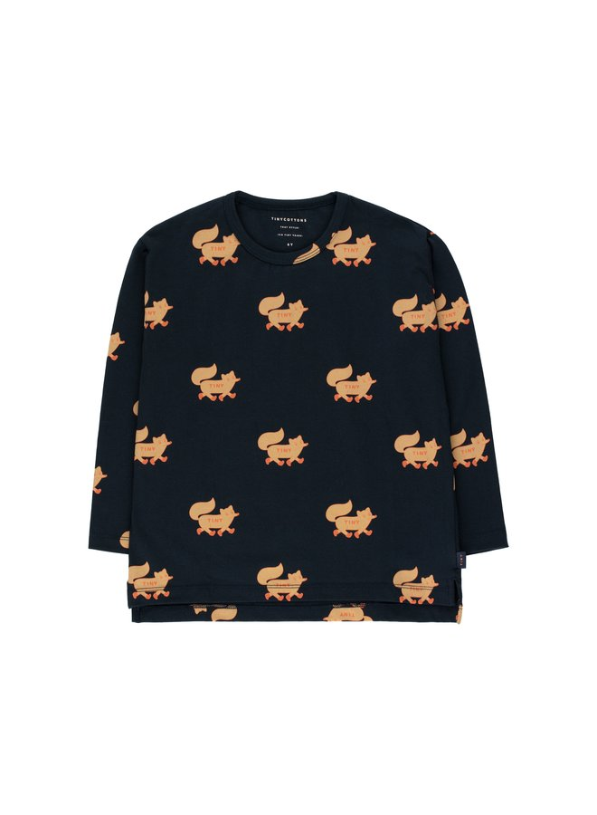 Tinycottons Foxes tee navy/camel
