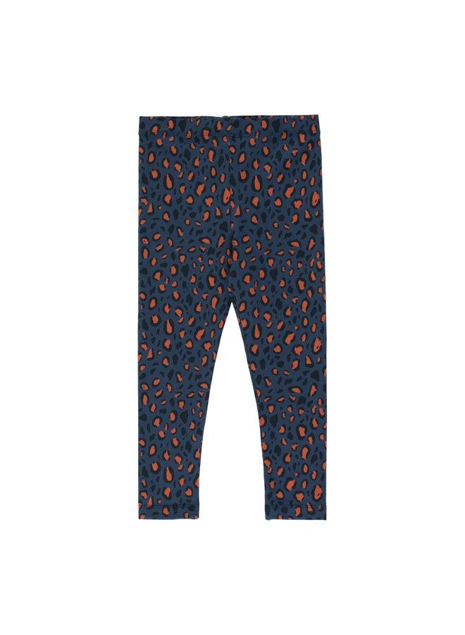Tinycottons Animal print pants navy/camel