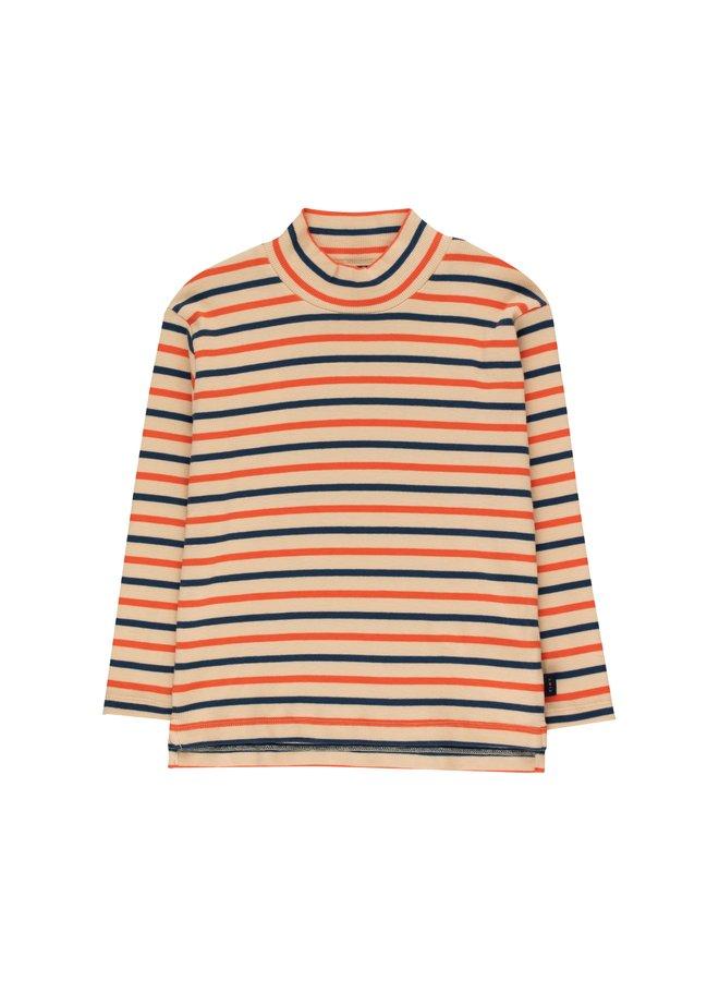 TinyCottons stripes mockneck tee