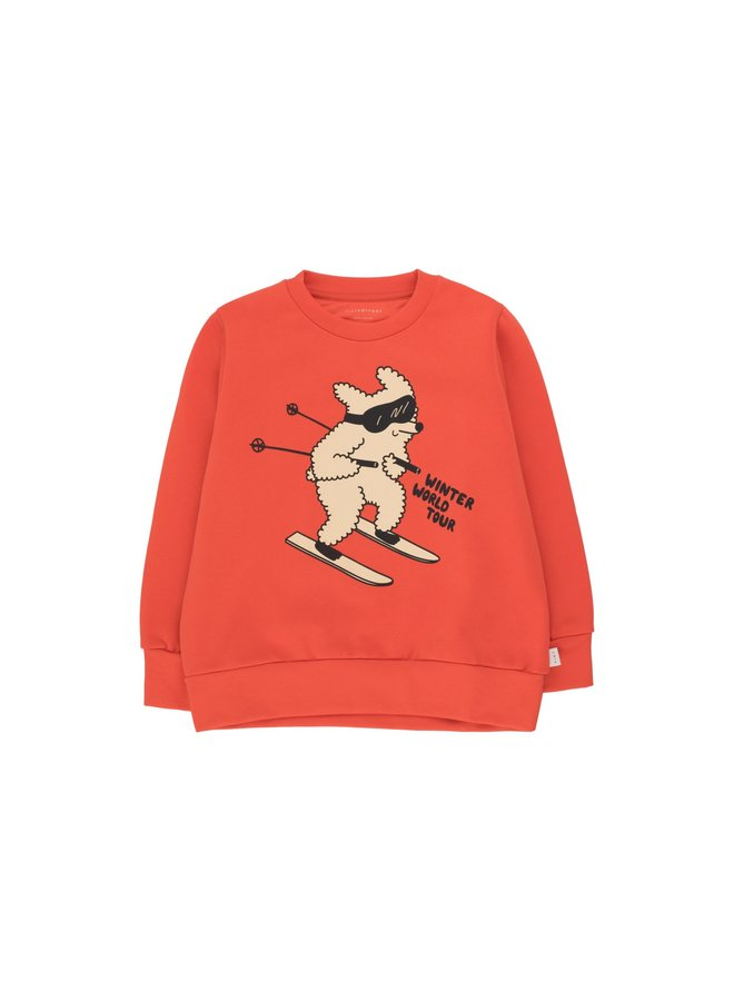 TinyCottons skiing dog sweatshirt