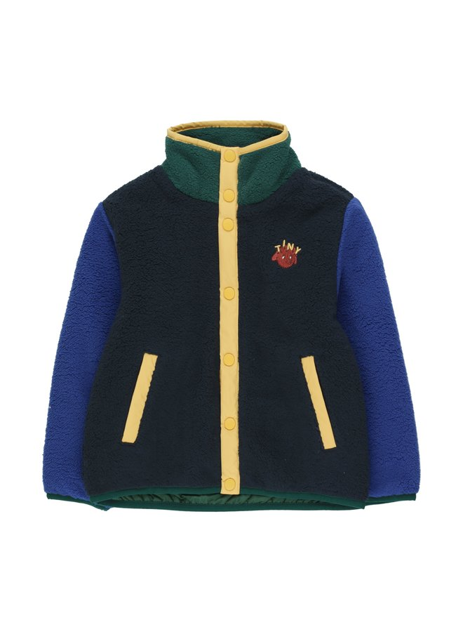 TinyCottons color block polar jacket navy